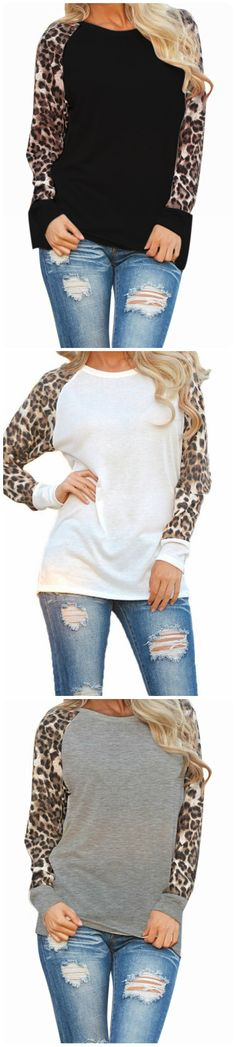 Try out this great leopard t-shirt if you want to wear something casual, yet different.