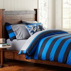 Rugby Stripe Duvet Cover   Pillowcases #pbteen