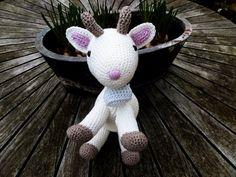 Amigurumi crocheted Goat Sweet white stuffed by PenguinPlanet