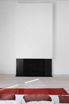 cheminée moderne insert avec design minimaliste