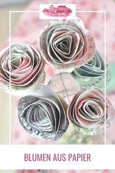 Super um aus Papierresten etwas zu upcyclen: Blumen aus Papier. Schnelle DIY-Idee. Diy Hacks, Vase, Deco, Blog, Super, Kindergarten, Diy Stuff, Babys, Wordpress