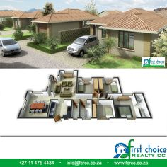 Developments by First Choice Realty. Choose from a wide range of plans and locations in Gauteng , Bonds to approved buyers   