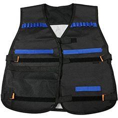 Elite Tactical Vest, Newisland Kid's Adjustable Tactical Vest Kit for  EliteToys Series, Foam Darts Blaster Gun and Other Outdoor Activities