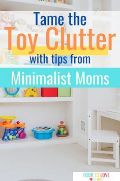 Visit our site to learn how to start decluttering when you have kids. Decluttering and living a minimalist lifestyle when you have kids can be hard, but these moms share their top secrets and ideas to help you get started living with less. Parenting Teens, Parenting Advice, Toddler Playroom, Playroom Ideas, Minimalist Lifestyle, Minimalist Living, Homemade Books, Housekeeping Tips, Declutter Your Life