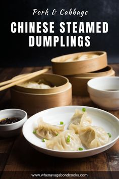 Make classic Chinese steamed dumplings that are tender and juicy! Substitute with any meat of your choice. Follow the tips in the blog post to ensure the meat is moist every single time, to make the filling ahead, to freeze dumplings and more! #chinesedumplings #porkandcabbagedumplings #steameddumplings #potsticker #chinesenewyear #lunarnewyear Chinese Steamed Dumplings, Frozen Dumplings, Pork Recipes, Asian Recipes, Ethnic Recipes, Balinese Recipe, Dumpling Filling, Pork And Cabbage, Chinese Pork