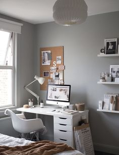 Cate St Hill's Beautiful Home Office via KRONE KERN