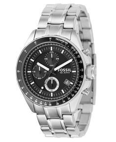 Fossil Men s Chronograph Decker Stainless Steel Bracelet Watch 40mm CH2600  Bracelet Watch aef1cbba8c