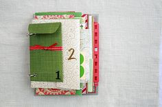 Homemade envelop advent calendar