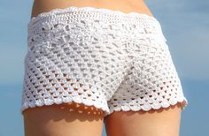 Pattern crochet white beach shorts and shorts by LecrochetArt, $6.90