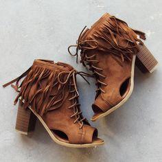 Love Shack Booties.. we love these fringe boho booties.