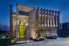 "SP Autor do projeto Arq Rafael Fernandes…"" DiyForYou is part of House architecture design - Modern Exterior House Designs, Best Modern House Design, Modern House Facades, Modern Villa Design, Bungalow House Design, House Front Design, Dream House Exterior, Modern Architecture House, Facade Architecture"