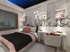 Quarto feminino jovem decorate your room, girls bedroom, bedrooms, my hou. Bedroom Decor, Home Office Decor, Bedroom, Room, Girl Bedroom Decor, Dream Rooms, Room Decor, Home Decor, Aesthetic Bedroom
