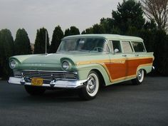 "1957 Ford Country Squire. (Betty Drapers car in the TV series ""Mad Men"")"