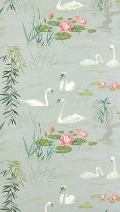 Swan Lake wallpaper by Nina Campbell for Osborne & Little