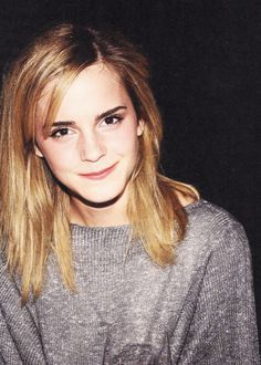 Emma Watson! I love that little smirk smile