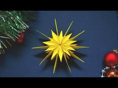How to make a paper star Multiple Intelligence Test, Red Arrow, What Is Need, Paper Stars, Advent, Snowflakes, Youtube, Origami Art, Dads