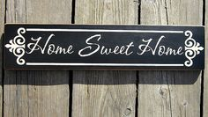 Primitive Wood Sign Home Sweet Home by BedlamCountryCrafts on Etsy, $20.00