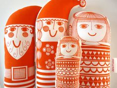 Scandinavian Retro Christmas Toy Kit by Jane Foster  by Janefoster