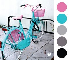 awesome blue and pink bike!