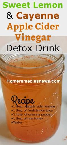 Apple Cider Vinegar Detox Drink Diet for Weight Loss, Colon Cleansing, and Flat Belly
