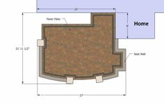 With colorful pavers and tumbled patio block, our Private Backyard Patio Design with Seat Wall will create a magnificent 415 sq. ft. outdoor living space.