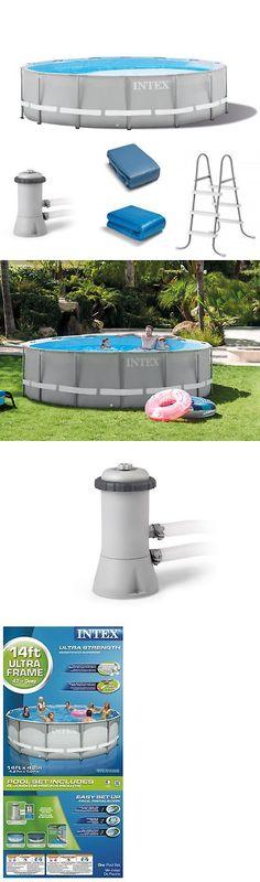 Above-Ground Pools 116405: Intex Swimming Pool 12 X 30 Round Metal ...