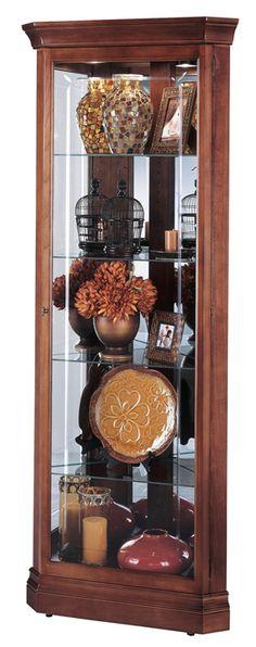 Howard Miller Lynwood Windsor Cherry Corner Curio Cabinet $497.70