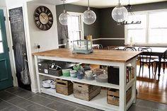 pallet kitchen island plan