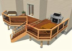 We have a large selection of free deck plans for you to browse. Whether your in the planning stages or you're ready to build, we have the plan for you. All of our plans come with detailed graphics and material lists, be sure to take a look. 2 Tier Deck Ideas, Free Deck Plans, Tiered Deck, 2nd Floor, Decks, Dreaming Of You, Finding Yourself, Graphics, How To Plan