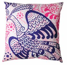 "Rhadi Living Wild Collection Peacock Pillow - 20"" x 20"" 