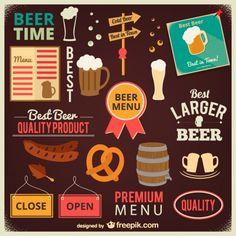Colección de dibujos de cerveza