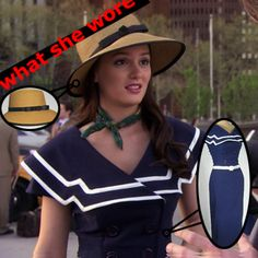 Blair Waldorf in straw hat