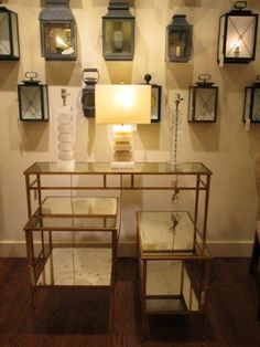 A Lovely Display Of New Gilt And Mirror Tables On Vaughans York Showroom Located In The D Building Suite 979 Third Avenue NY