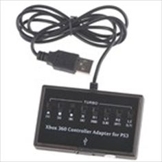 Controller Converter Adapter for Microsoft XBOX 360 to Sony Playstation 3 PS3 Console - Black