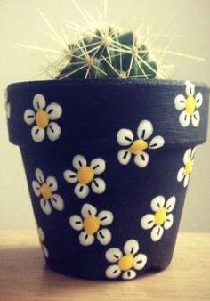 Easy Flower Painting, Flower Pot Art, Flower Pot Design, Clay Flower Pots, Flower Pot Crafts, Clay Pot Crafts, Rock Crafts, Clay Pots, Painted Plant Pots