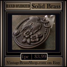 1PC #GORGEOUS LARGE ROUND #GRAPE #LEAF & #VINE #CAMEO    Hand oxidized with deep brown patina    Sturdy construction but lightweight with hollowback    Measurement is a full 2 inches (50mm) in diameter      Genuine #brass    Nickel and lead free    #MadeintheUSA    Hand crafted patina with natural matte finish...no oils or polish.    Hand Oxidized And Naturally Aged Patinas......From Our Studio To Yours | Shop this product here: http://spreesy.com/VintageBrassShop/79 | Shop all of our…