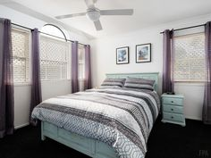 Bedroom Ceiling Fan, Homes, Curtains, Bedroom, Places, Stuff To Buy, Furniture, Home Decor, Ceiling Fans