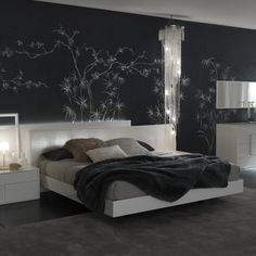 Nightfly White Platform Bed