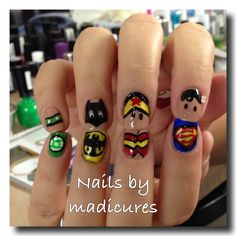 This Pin was discovered by Smeghead52. Discover (and save!) your own Pins on Pinterest. | See more about comic book nails, comic books and nails.