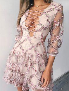 Sexy Robe de Soirée rose effet décolleté en polyester avec zip douse été
