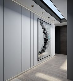 Design a Chic Modern Space Around a Brick Accent Wall, art, arrival, hallway, entrance, skylight, interior design