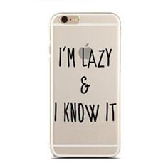 Clear Snap-On case for iPhone 5/5S - I'm Lazy & I Know It - Laziness - Funny - Hipster (C) Andre Gift Shop