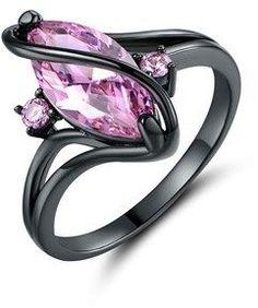 K Cubic Zirconia Ring. Cubic Zirconia Rings, Black Rhodium, Heart Ring, Plating, Jewelry, Board, Style, Swag, Jewlery