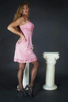 Pretty Lingerie, Crossdressers, Girly, Slip On, Glamour, Formal Dresses, Boys, Sexy, Pink