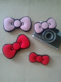 kitty bow felt Sunglasses Case, Felt, Kitty, Bows, Fashion, Little Kitty, Arches, Moda, Felting