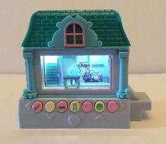 Pixel Chix Blue Green House Cottage 3D Virtual World Tested Works Mattel 2005 | eBay