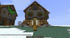 Another Minecraft house tutorial.