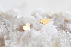 Small Heart Stud Earrings 14k Gold Filled heart
