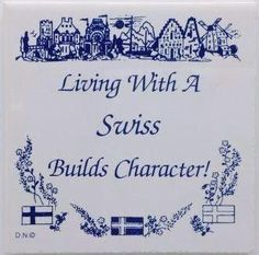 Swiss Culture Tile Magnet (Living With Swiss)