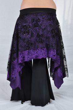 Tribal Fusion Skirt  0053  Large by BadAssSophisticate on Etsy, $45.00
